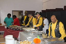 Feeding the homeless with JC Williams Community Center